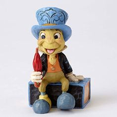 Jim Shore Disney Traditions Mini Jiminy Cricket on Match Box Figurine 4054286 * Continue to the product at the image link.