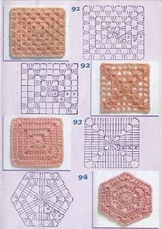 Crochet Granny Square Rose Color Combos 38 Ideas For 2019 Crochet Edging Patterns, Granny Square Crochet Pattern, Crochet Blocks, Crochet Diagram, Crochet Poncho, Crochet Chart, Crochet Squares, Crochet Granny, Crochet Motif