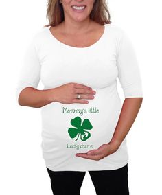 fbb1aa71 St. Patrick's Day Mommy's Little Lucky Charm by DJammarMaternity Funny  Pregnancy Shirts, Pregnancy Humor