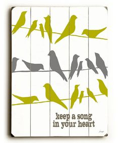 What song is in your heart today? :: wall art on zulily