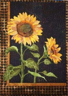 Sunflower Kit 15 x 21 Kits (Not Precut) Sunflower Fusible Applique Art Quilt Kit by Toni Whitney. Sunflower Quilts, Sunflower Art, Sunflower Pattern, Sunflower Garden, Landscape Art Quilts, Applique Quilt Patterns, Keepsake Quilting, Panel Quilts, Batik Quilts