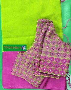 Pattu saree with kutch work and mirror work blouse 7702919644