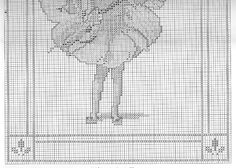 Cross stitch - fairies: May fairy - Cicely Mary Barker (chart - part B)