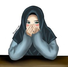 I love hijab . Girl Hair Drawing, Hijab Drawing, Girl Cartoon, Cute Cartoon, Cartoon Art, Muslim Pictures, Islamic Pictures, Cute Muslim Couples, Muslim Girls