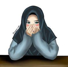 I love hijab . Muslim Pictures, Islamic Pictures, Cute Muslim Couples, Muslim Girls, Girl Cartoon, Cartoon Art, Crown Illustration, Hijab Drawing, Hijab Cartoon