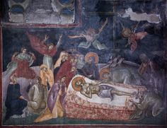 Holy and GreatFriday. Fresco in Gracanica Monastery. Iconography of Passion Week / OrthoChristian. Fresco, The Transfiguration, Images Of Christ, Life Of Christ, Old And New Testament, Lamentations, High Priest, Byzantine Icons, Holy Week