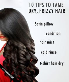 A few simple hair care tips that will not only tackle frizzy hair or flyaways but will also make your hair healthy. Condition: Once you are done shampooing, squeeze extra moisture from your tresses then work the conditioner. Leave it on at least two minutes before rinsing. Mist: Mist your hair with hair oil, rose water or aloe vera gel. It'll give you sparkle and reflection without weighing hair down. DIY coconut oil hair mist >> Oils: Natural oils not only helps to tame frizz but also…