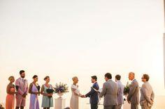 Natural & Organic Wedding  Ceremony | A modern bride in Santorini | Image by Sam Hurd | Stella And Moscha Exclusive Greek Island Weddings   #weddingportrait #santoriniphotographer #santoriniwedding #santoriniflorist #stellaandmoscha #santoriniweddingplanner