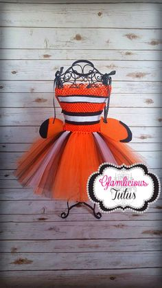 Clown Fish costume| Clown Fish tutu dress| Fish costume| newborn- size 10 child listing by GlamliciousTutus on Etsy https://www.etsy.com/listing/243372898/clown-fish-costume-clown-fish-tutu-dress