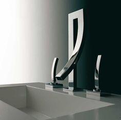 Metallic Sculpture : itshadrian:  Awesome bathroom fixture.