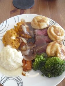 Roast beef and yorkshire puddings