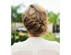 10 Wedding Updos - Diagonal braid