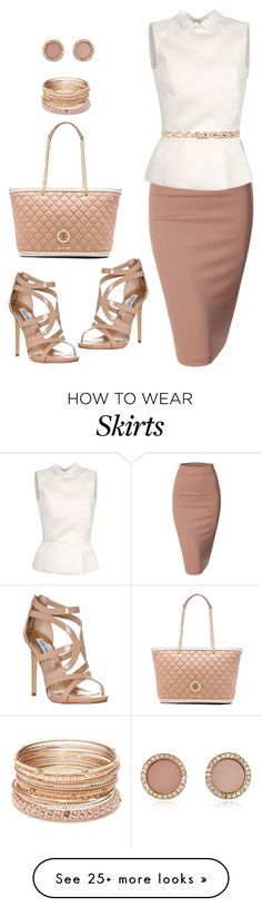 """""""Untitled #833"""" by gallant81 on Polyvore featuring Love Moschino, Doublju, Rochas, Steve Madden, Michael Kors, Red Camel and Linea Pelle"""