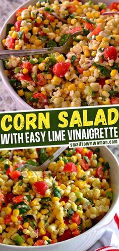 Dinner Side Dishes, Dinner Salads, Dinner Sides, Healthy Side Dishes, Side Dishes Easy, Vegetable Side Dishes, Corn Salad Recipes, Corn Salads, Easy Salads