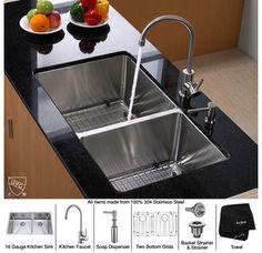 $579  includes faucet  Kraus KHU103-33-KPF2160-SD20