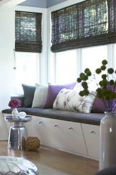 Modern window seat with pillows