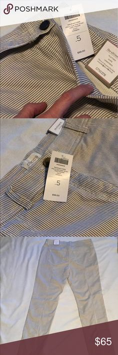 Chico's Railroad Stripe Utility Slim Pants BRAND NEW with tags never worn. Women's Chico's Pants 30.5in pant fashion. Size .5 (6)   waist is 30inch Chico's Pants Skinny