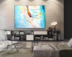 Extra Large Abstract Canvas Art Abstract Painting,Canvas Wall Art,Original Abstract,Oil Canvas Abstract,Home Office Painting Blue Blue Abstract Painting, Abstract Canvas Art, Large Painting, Canvas Paintings, Painting Art, Acrylic Art, Abstract Paintings, Painting Gallery, Original Paintings