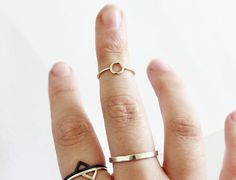 """Midi Ring """"Simple"""" poliert von 4Pieces auf DaWanda.com"""