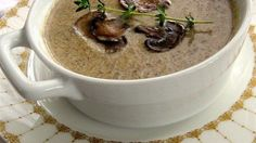 MUSHROOM SOUP:The secret to this deep rich soup is a long slow caramelization, the key to unlocking the mushroom's magic. This is just pure essence of mushroom. Best Mushroom Soup, Creamy Mushroom Soup, Mushroom Soup Recipes, Creamy Mushrooms, Stuffed Mushrooms, Mellow Mushroom Soup Recipe, Great Recipes, Favorite Recipes, Easy Recipes