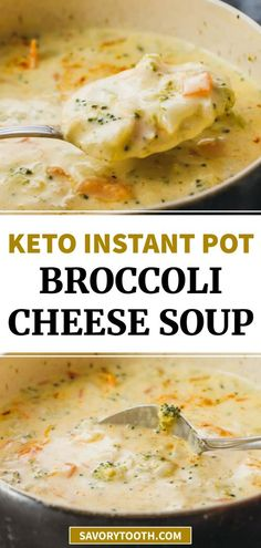 This Instant Pot Broccoli Cheese Soup is one of my favorite vegetarian instapot pressure cooker recipes! So easy to make, simple, quick, and homemade from scratch. It is a creamy and hearty meal for families that is dinner in itself, and healthy as well so ideal for gluten free (no flour), keto / ketogenic, and low carb. This recipe is a copycat of the Panera soup, and can be easily frozen in the freezer for meal prep.