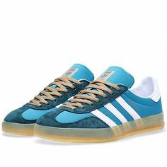 adidas Gazelle Indoor Men Shoes Teal / Running White G96687 (size 8.5-11.5 US)