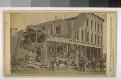 Effect of Earthquake in San Francisco, 21 Oct. 1868 cdv by  Muybridge