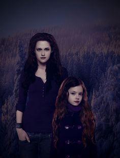 The Twilight Saga Breaking Dawn Part Bella & Reneesme Cullen Twilight Breaking Dawn, Breaking Dawn Part 2, Twilight New Moon, Twilight Movie, Twilight Quotes, Twilight Pictures, Vampires, Bella Cullen, Alice Cullen
