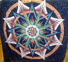 Mariner's Compass, Quiltworx.com, Made by CS Palm Beach Quilting.