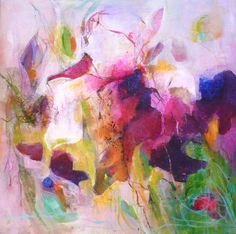 WILD IRISES Original Abstract Painting on Stretched by Paulina722