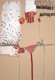 "Saatchi Art Artist Kasia Gawron; Drawing, ""BODY 12"" #art"