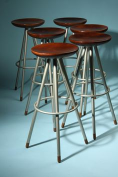 Bar stools, designed for Zeus, Italy. 1980s.