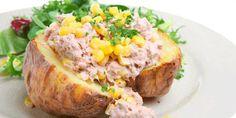 Vandaag een lekkere lunch aardappelinspiratie met dit verrassend gezonde gerecht Gevulde aardappel met romige tonijn. (ook heerlijk als brunch in het weekend :))