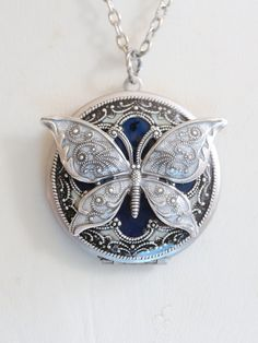 bff silver necklace set best friends index butterfly tone locket lockets