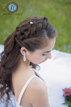 Inspired by Disney's movie Cinderella. Our studio spring creative photo shoot. Senior model Lara models a blue & white ball gown from Sierra Bridal. Jennifer Rapoza Photography, Sonora, CA. Hair and makeup by Jessica Alger. Beautiful braids, Princess style. Tiara. Motherlode Ranch, Sonora, CA