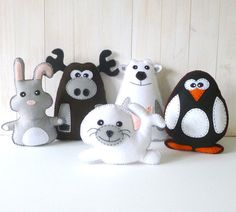 Love all her patterns.  50 Off SALE Arctic Stuffed Animal Hand Sewing by LittleHibouShoppe, $7.50