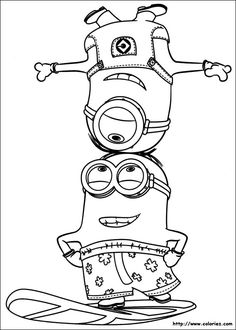 15 Minions printable coloring pages for kids. Find on coloring-book thousands of coloring pages. Minion Coloring Pages, Boy Coloring, Coloring Pages For Boys, Disney Coloring Pages, Coloring Book Pages, Coloring Sheets, Free Coloring, Minion Art, Minion Theme