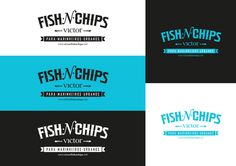 logo / VICTOR FISH'N'CHIPS Food Branding, Fusion Food, Fish And Chips, Summer Food, Light Recipes, Summer Recipes, Finger Foods, Projects To Try, Behance