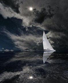 diamondtoast: Sailing by moonlight