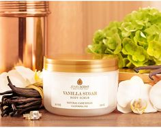 Vanilla Sugar Body Scrub for $27.99 at JewelScent.com. Hidden jewelry valued $10 to $7500 Our body scrubs are a delicious and rejuvenating treat for every bath.  Sultry and sweet, this fragrance melds the classic aroma of vanilla blossoms with notes of pure cane sugar to create a soft and relaxing scent.