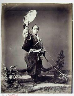 samurai - vintage - black and white
