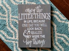 Enjoy the little things wood sign | Wood Signs | Wall Art | Wall Hangings | Valentines Day | Wall Art | Wall Hangings | Valentines | Wedding by DanielleGraceDesign1 on Etsy