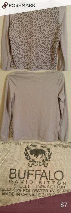 Girl long sleeve  top Cheetah print long sleeve top Shirts & Tops Tees - Long Sleeve