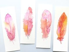 Watercolor Feathers Speedpainting - YouTube