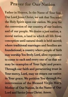 Prayer For Our Country, Prayer For Peace, Faith Prayer, God Prayer, Power Of Prayer, Powerful Prayers, Prayers For Healing, Bible Prayers, Morning Prayer Quotes