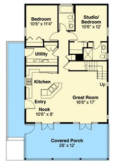 Vacation Cabin With Bonus Above - 72781DA | 1st Floor Master Suite, Bonus Room, Butler Walk-in Pantry, CAD Available, Cottage, Country, Narrow Lot, PDF, Vacation, Wrap Around Porch | Architectural Designs