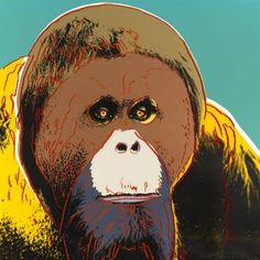 Andy Warhol, Endangered Species: Orangutan, 1983 Andy Warhol : ♦️More Pins Like This At FOSTERGINGER @ Pinterest♦️