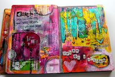 Art Journal Page by Jodi Ohl  Heart on a String