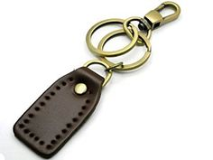 Amazon.com: BrownBeans, Casual Style Fashion Brown Leather Keychain Key Chains Ring Holder (BBKC1008): Automotive
