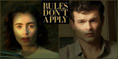 #MovieReview RULES DON'T APPLY - I know it's not nice to say, but I found both Lily Collins' caterpillar eyebrows and Alden's over hanging Frankenstein brow extremely distracting.